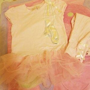 Ballerina style shirt and legging ser